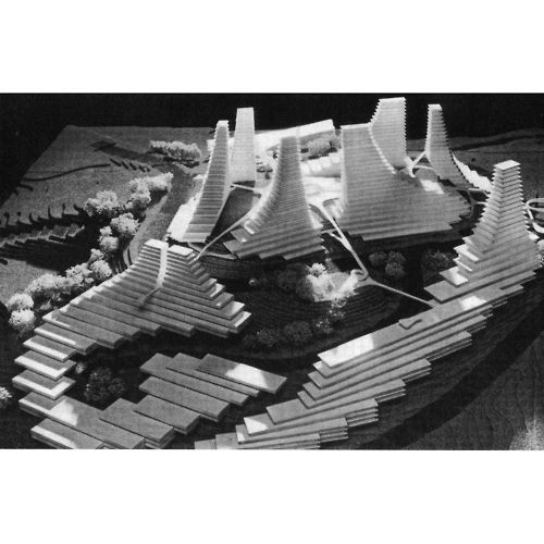 JEAN LUBICZ-NYCZ AND MARIO CAMPI     DESIGN FOR THE DIAMOND HEIGHTS COMPETITION, SAN FRANCISCO, 1961