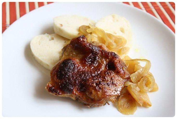 Kuřecí na jablkách s cibulí a medem | Meg v kuchyni