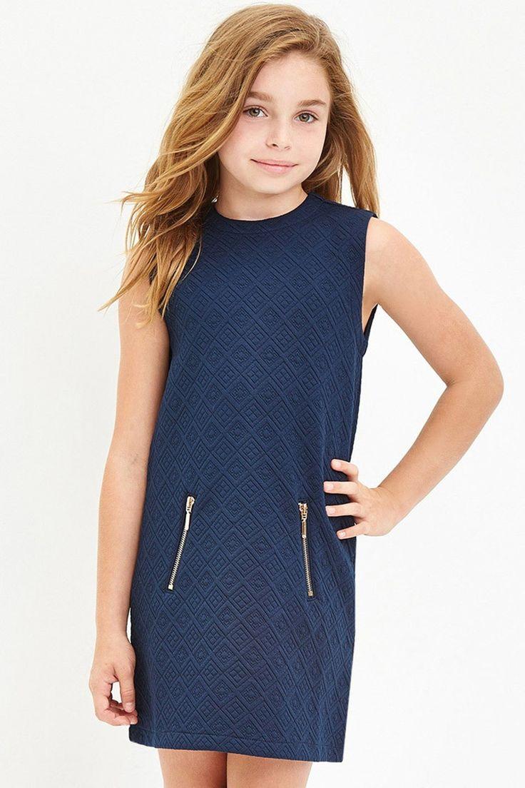 Girls Geo-Patterned Dress (Kids)