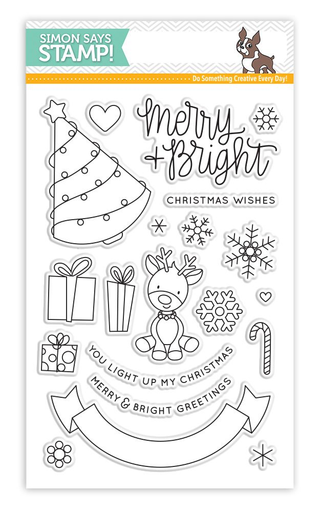 RESERVE Simon Says Clear Stamps MERRY AND BRIGHT SSS101687