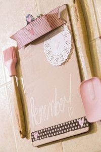 Creative Company | Scrap That Too: Chalkboard clipboard