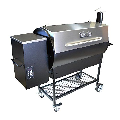 Pellet Pro Deluxe 1190 Stainless Pellet Grill - NEW 35# Capacity Hopper & 7-Year Warranty > Large capacity grilling space; 1190 sq inches - 36,000 BTUs Top Full Rack: 34 x 16; Bottom Rack: 34 x 19 - 13ga Stainless Steel Grill & Hopper Lid Heavy Duty 13-14 Gauge Steel Construction; Includes 100# of Lumberjack Brand BBQ Pellets!