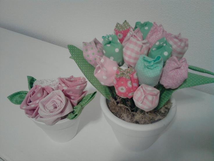 Vaso Flores de Tecido