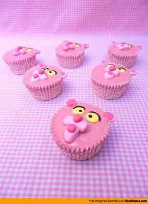 Cupcakes originales: La Pantera Rosa.