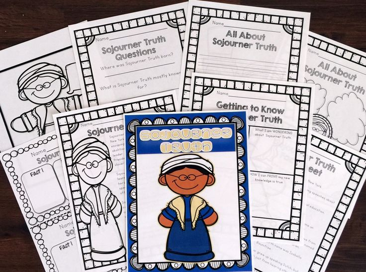 This African American History/Black History Activity Set includes everything you need to teach your students about Sojourner Truth and her contribution to African American history.  Activities Included: Poster (in color) Coloring Sheet  Graphic Organizer for Facts Fact Sheet with important information on the historical figure Bubble Map Synthesizing (KWL Chart) Activity Passage and Questions Writing Prompt