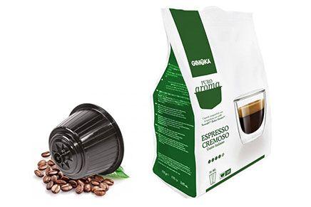 Capsule caffè compatibili Nescafe Dolce Gusto Puro Aroma espresso Cremoso capsule compatibili cialde nescafe dolce gusto Puro Aroma_Espresso Cremoso 16caps 112gimoka