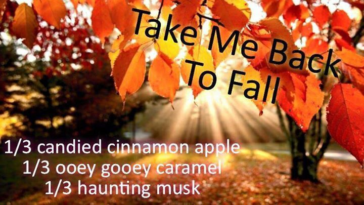 Pink Zebra Recipe: Take Me Back to Fall.  Featuring Candied Cinnamon Apple, Haunting Musk and Ooey Gooey Caramel
