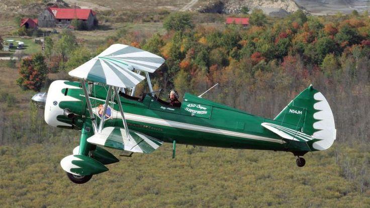 Green Biplane