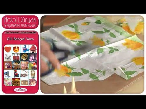 Cam Boyama Uygulamaları - Gül Bahçesi Vazo - YouTube