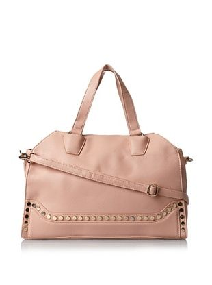 32% OFF Nila Anthony Women's Studded Bottom Seam Two Handle Satchel, Blush, One Size