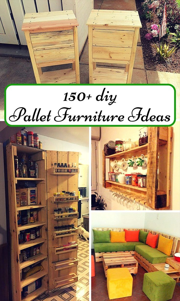 The pallet ideas are just never ending, reestablish the pallets and gain lasting longer furniture projects- 150+ Wonderful Pallet Furniture Ideas | 101 Pallet Ideas - Part 8