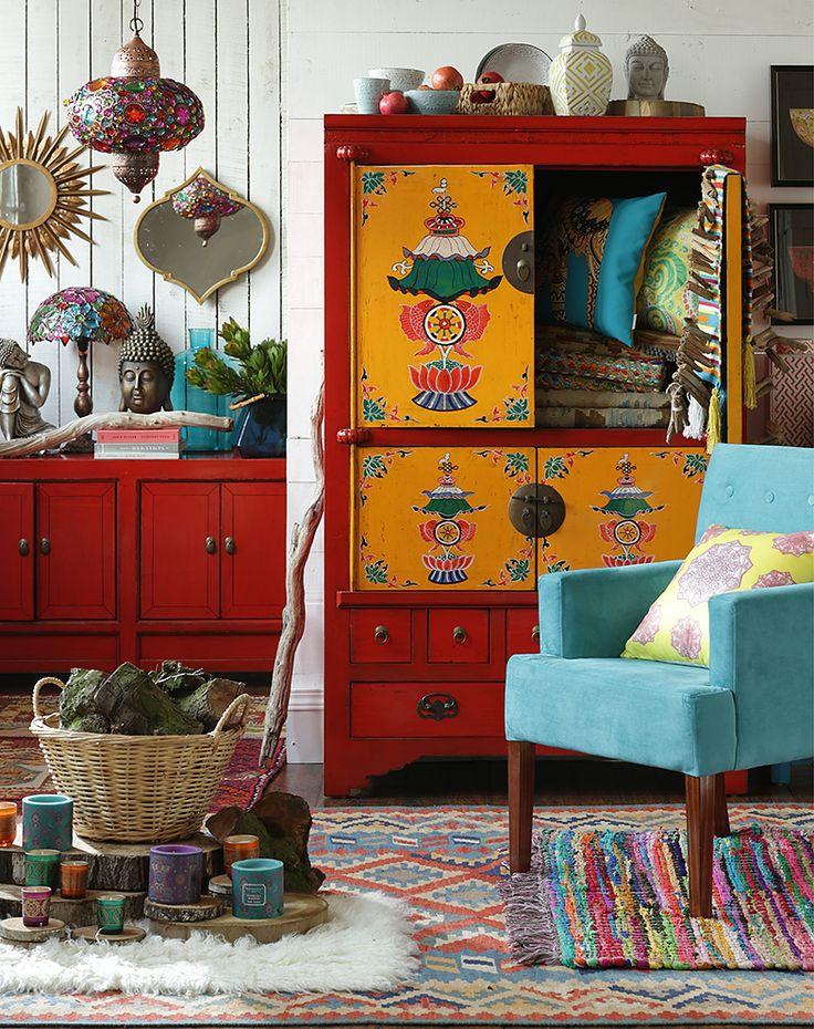 Si lo tuyo es un #estilo #relajado y #hippie #chic, te encantará la #colección #Boho de #DecoBazar. #Colores #Decoración #Homy #Bohemio.