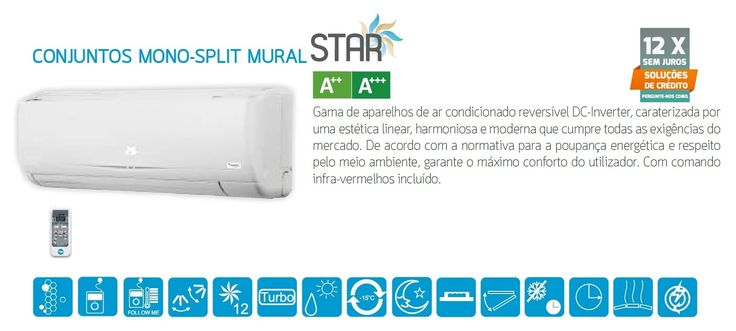 NOVIDADE! Ar condicionado Mural Star Mono-split ST 09 - 9000 - 490.00€