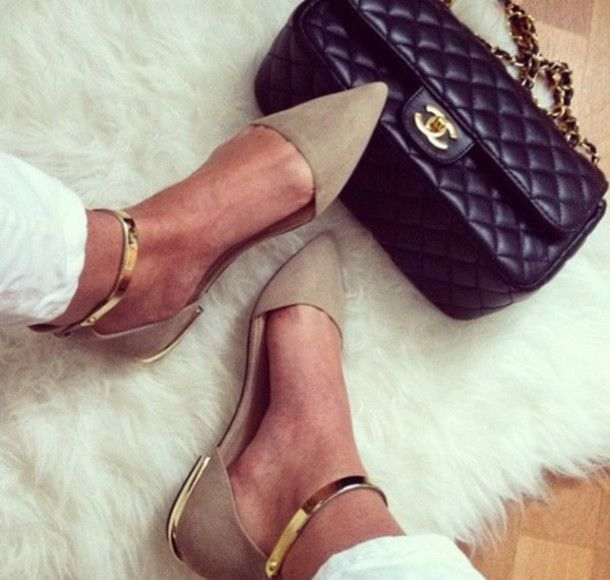 shoes pointy toe shoes pointy toe flats gold ankle strap