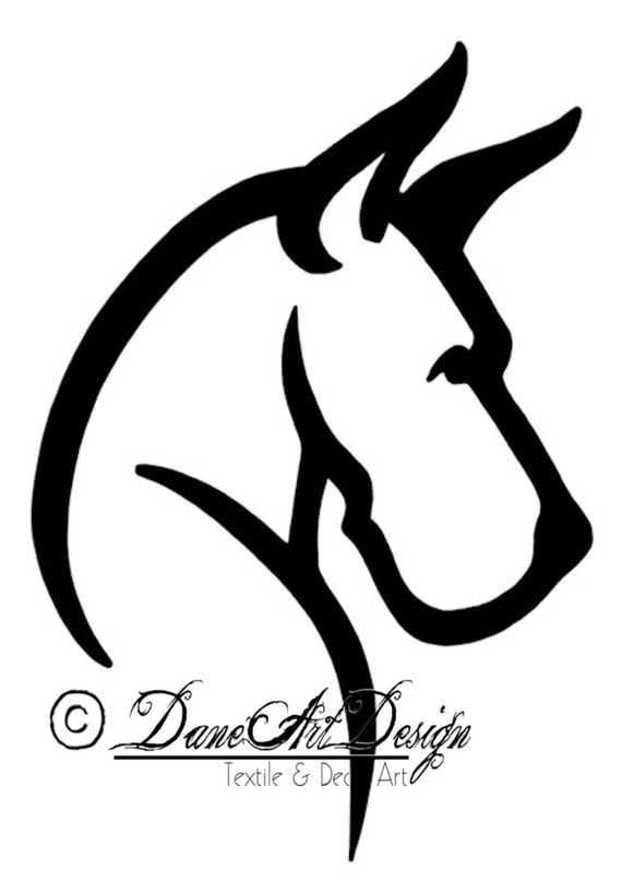 Large Great Dane Head Decal With Cropped Ears From Daneart Design