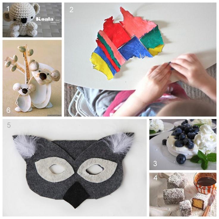 Australia crafts for kids   Creativity Unmasked: Six for Saturday or Sunday - Aussie Aussie Aussie ...