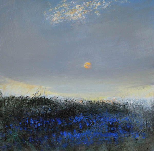 'Sunrise with bluebells' Oil on canvas 60x60 cm £1100