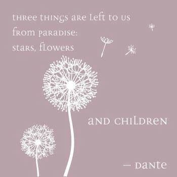 Three Things Are Left To Us From Paradise Stars Flowers And Children