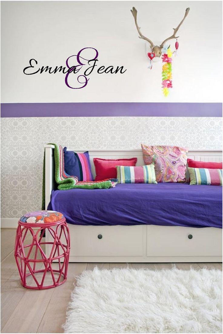 25 best nursery monogram ideas on pinterest flower letters custom name monogram vinyl art wall decal personalized bedroom name vinyl sticker