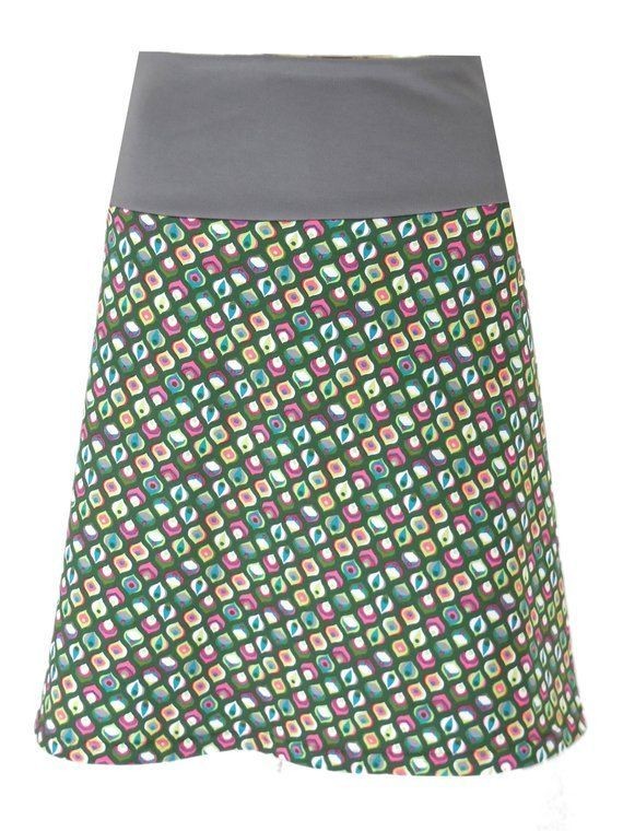 Jersey Skirt In Form A Wonderfully Xs L Comfortable By The Wide Cuffs With Comfortable Inner Waistband Mittellangero In 2020 Jersey Skirt Wide Cuff African Skirts