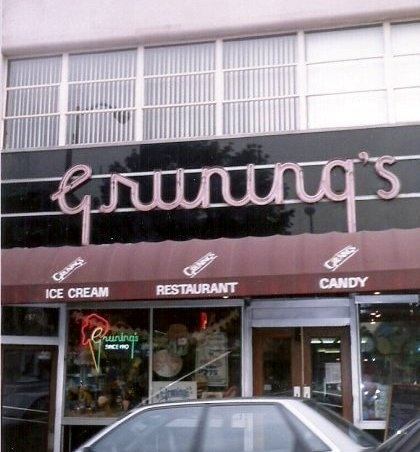 Who remembers Grunings in South Orange Village? Long out of business but so many great ice cream and hot fudge memories!
