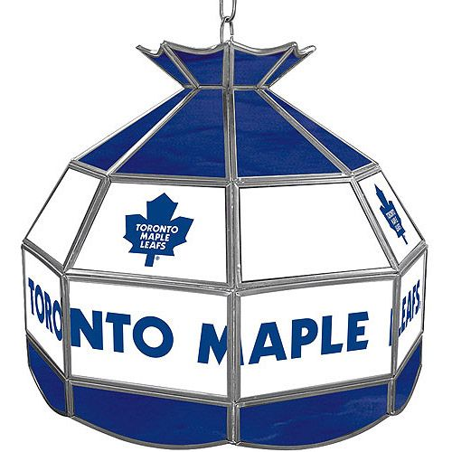 """#Trademark Global NHL Toronto Maple Leafs 16"""" Stained Glass Tiffany Lamp Light Fixture $164.97"""