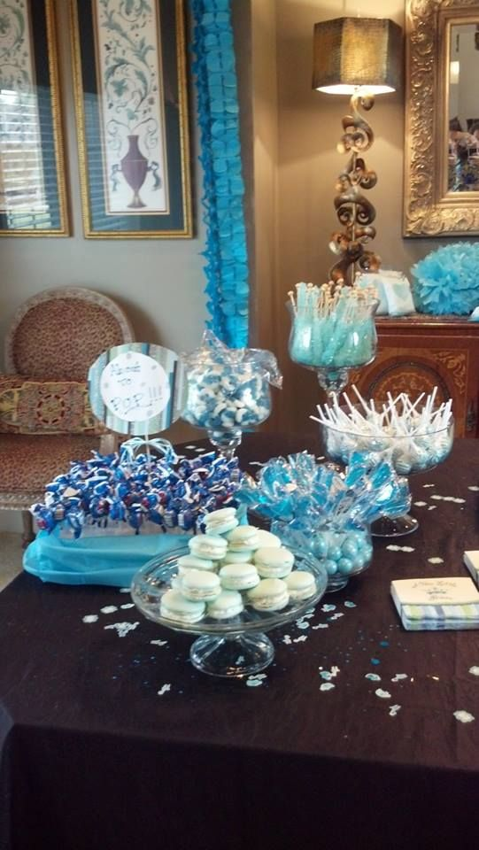 baby boy baby shower blue baby shower blue candy table