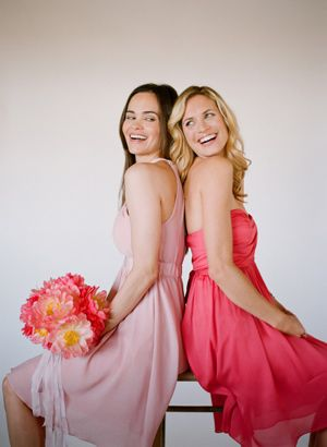 Pink and Red Bridesmaids - Why Not?