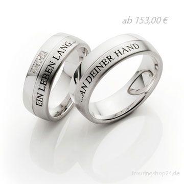 Schöne Verlobungsringe mit individuellem Text .  Ein Leben Lang .... .... An Deiner Seite