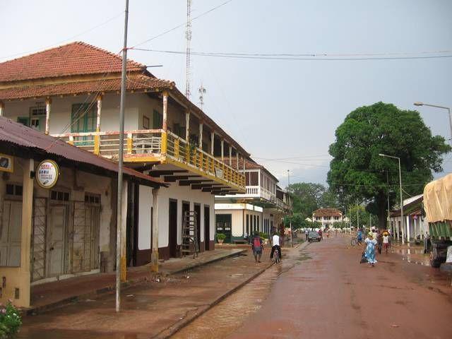 Gabú, Guinea-Bissau. Busy market town, with a predominantly Muslim population.