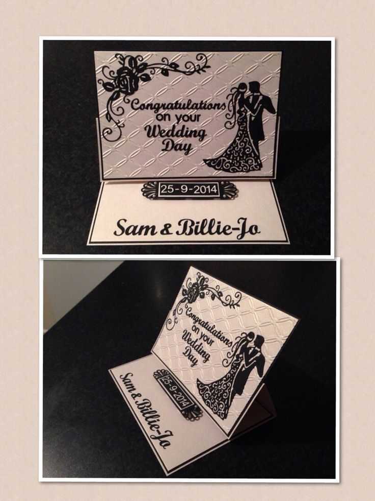 Wedding card using tattered lace dies