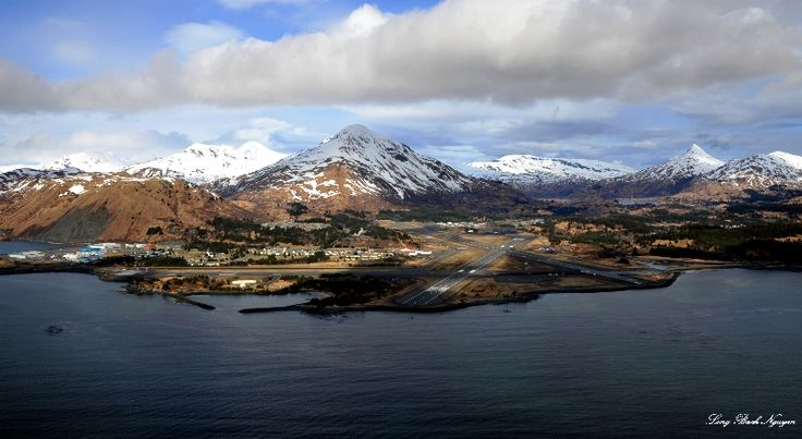 US Coast Guard Kodiak Base, Barometer Mountain,Kodiak Island, Alaska.
