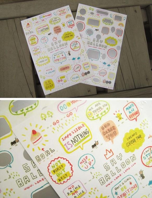 Speech Balloon Scratch Stickers - Target