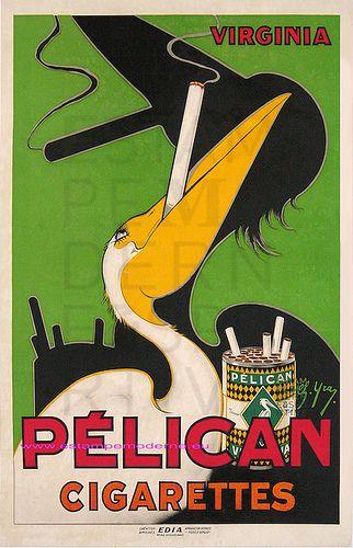 Yray Ch. 1930 Cigarette Pelican 58,5X79,5 Edia | Flickr - Photo Sharing!