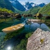A crystal clear lake Norway