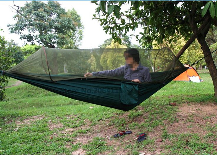 Parachute Outdoor Camping Hammocks with Mosquito Net