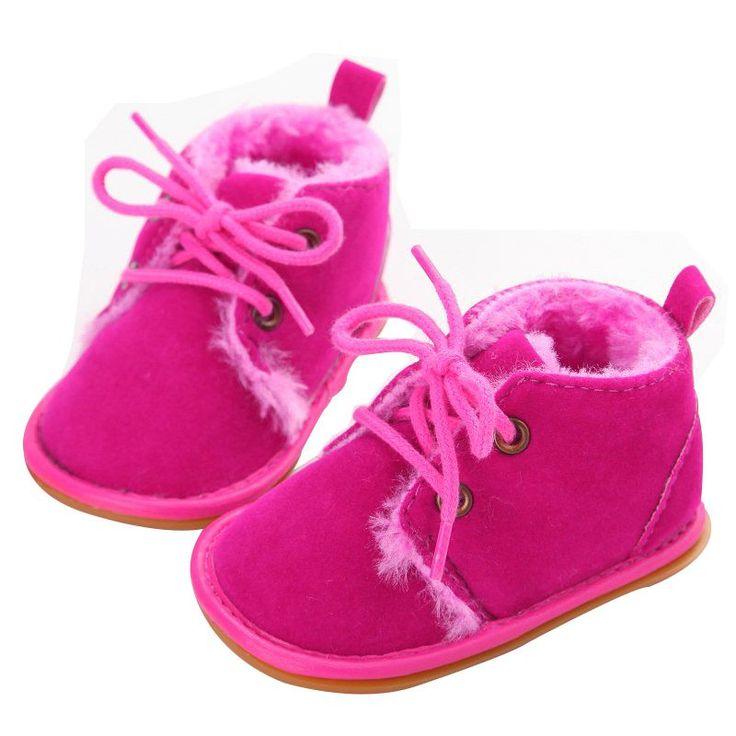 Newborn Boy Girl Lace-up Scarpe Escursionisti di Frist Infantile Del Bambino di Autunno Scarpe Inverno Caldo