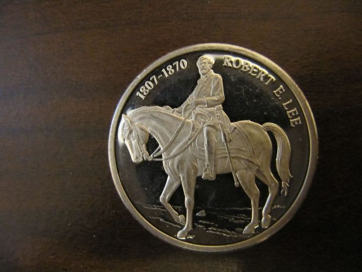 Robert E Lee 1807 1870 1 4 Oz 999 Silver Round Civil War
