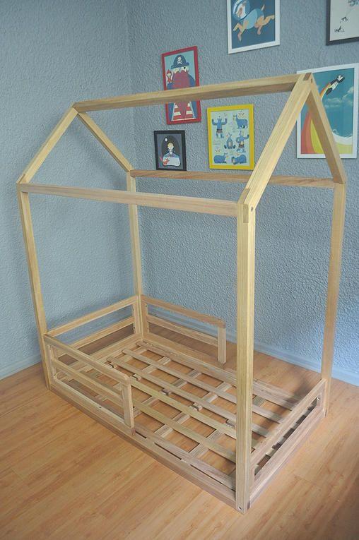 Cama tipo Montessori estructura