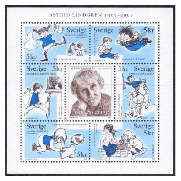 (+2) Джейн Остин и Астрид Линдгрен в иллюстрациях на..марках