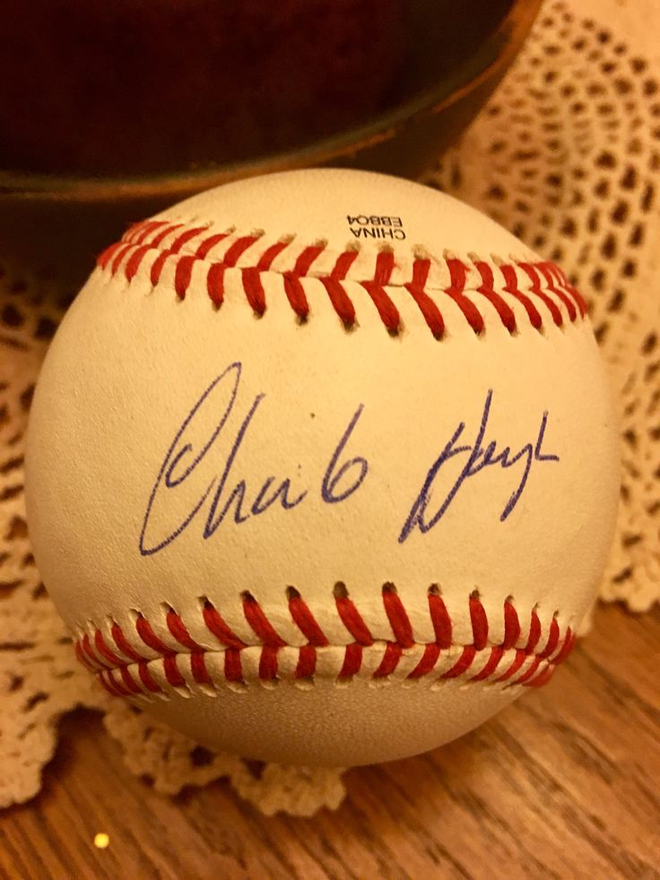 Charlie Hough autographed baseball, from Uncle Troy