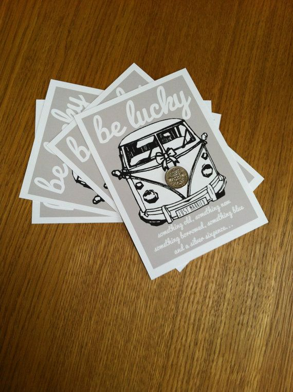 VW Camper Lucky Sixpence Wedding Gift / by mammothcreativeworks