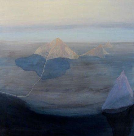 Acrylic and pigment on canvas 101 x 101 cm Paula Payne