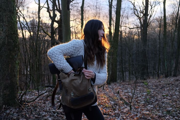 Drawing from old utilitarian military bags with design functions for modern adventures, the leather and canvas backpack has a perfect blend of style and practicality. #leather #fashion #style #canvas #bags #backpack #rucksack
