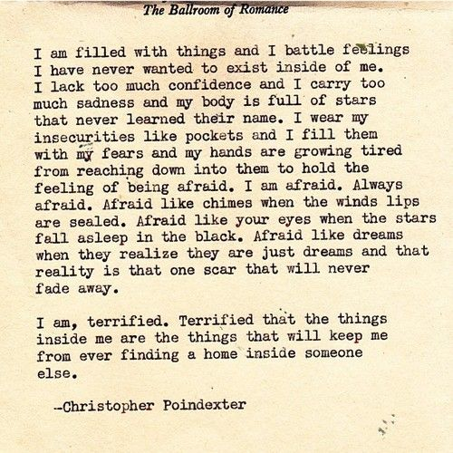 """Their tears were their love"" series poem #23, by Christopher Poindexter."