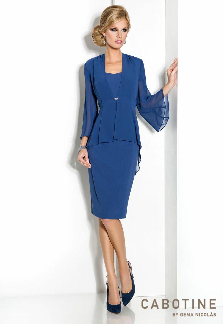 Bella 6163 vestido de fiesta corto con chaqueta en chiffon - Detalles de fiesta ...