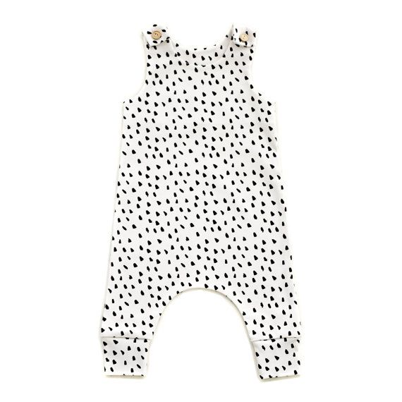Dalmatian Organic Cotton Baby Romper by RockyRacoonApparel on Etsy