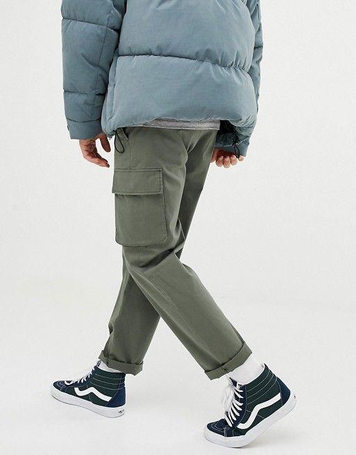 e7573d7c DESIGN cargo pants in khaki in 2019 | Casual | Cargo pants men ...