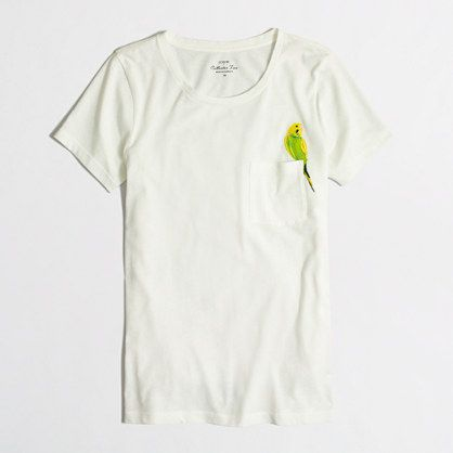 J.Crew Factory - Factory embroidered bird collector tee
