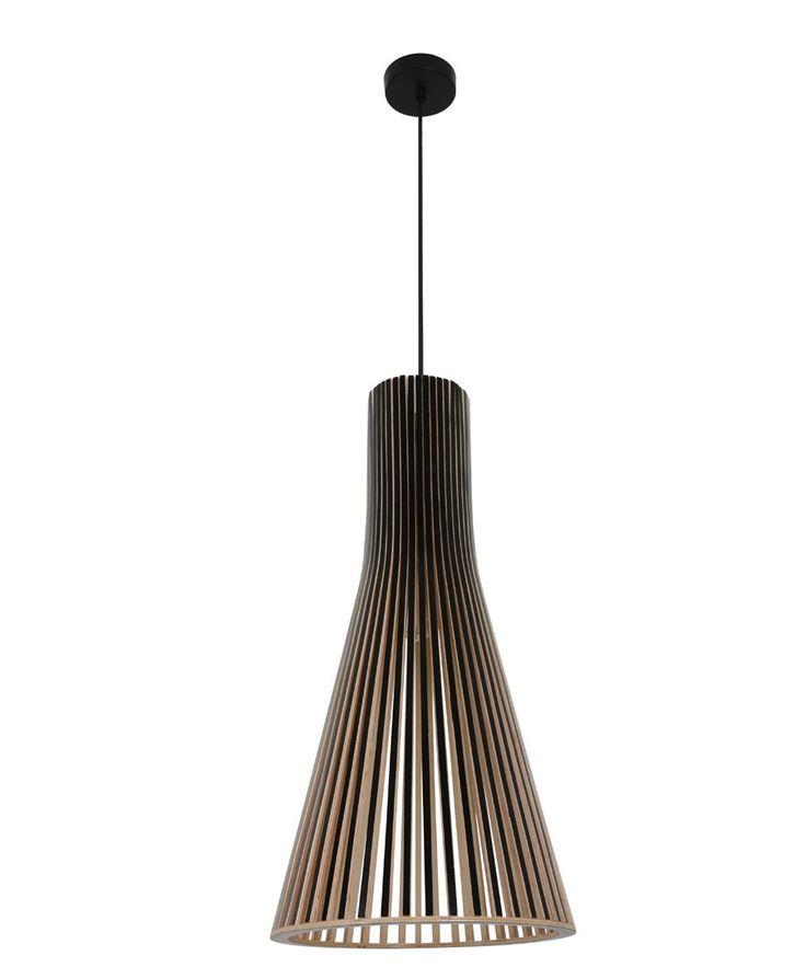 Alrik 1 Light Large Cone Pendant In Black | Modern Pendants | Pendant Lights  | Lighting